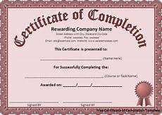 Generic Certificate Of Completion Generic Certificate Of Completion Free Example Pdf