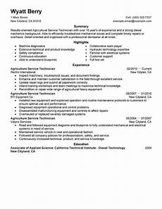 Resume Technical Summary Best Service Technician Resume Example From Professional