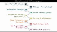 Best Job Qualities 10 Best Qualities Adopted By High Performing Employees