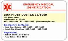 Medical Alert Cards Templates Free Printable Medical Alert Card The Frugal Free Gal