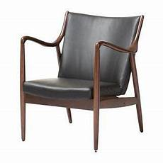 mid century black shakespeare faux leather accent chair