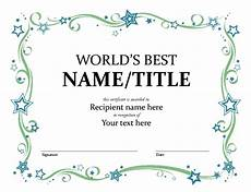 Awards Template Word Certificates Office Com