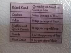 Xanthan Gum Chart Bob S Red Mill Xanthan Gum Chart Gf Baking Mix Xanthan Gum