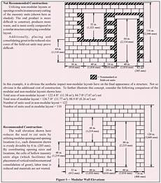 Modular Brick Size Chart Modular Layout Of Concrete Masonry Ncma