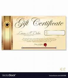 Gift Certificate Paper Luxury Gift Certificate Template Royalty Free Vector Image