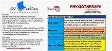 Resume And Biodata Difference Physiotherapy Jobs Difference Between Resume Curriculum