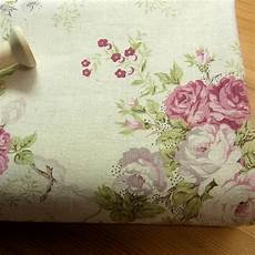 vintage style linen blend fabric flowers shabby chic