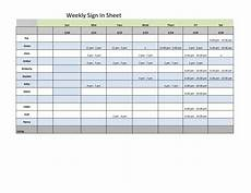 Weekly Sign Up Sheet Weekly Sign In Sheet Templates At Allbusinesstemplates Com