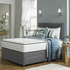 leather divan bed with memory foam mattress