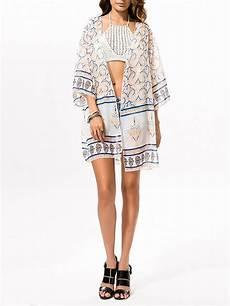 sleeve kimono for snaps chiffon snap front printed kimono