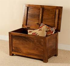 solid mango wood chest or blanket box small casa