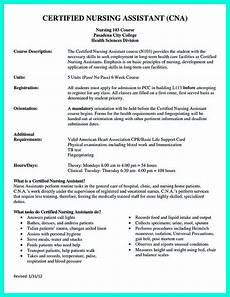 Certified Nursing Assistant Duties Resume Quot Mention Great And Convincing Skills Quot Said Cna Resume Sample