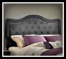 king size charcoal suede custom upholstered by
