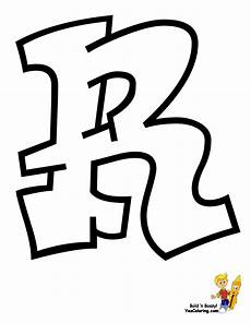 Cool Letter R Cool Graffiti Abc Coloring Pages Numbers Free