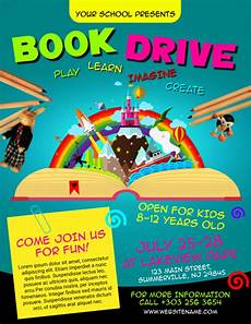 Flyers Book Book Drive Flyer Template Postermywall