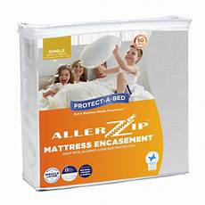 allerzip 174 fully encased mattress protectors protect a bed