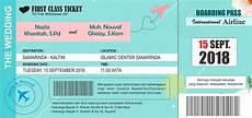 undangan boarding pass desain undangan model boarding pass dan lopnya