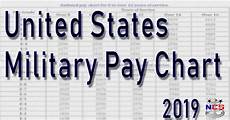 Us Army Reserve Pay Chart 2019 2019 Military Pay Chart All Pay Grades
