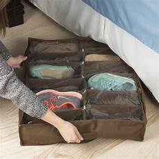 bed storage shoe organizer bag with clear plastic