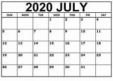 July 2020 Calendar Printable July 2020 Monthly Calendar Printable On We Heart It