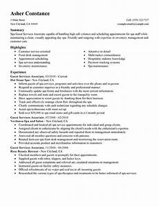 Guest Services Resume Best Guest Service Associate Resume Example Livecareer