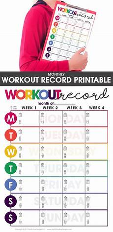 Printable Exercise Tracker Workout Record Fitness Tracker Fitness Tracker Fitness