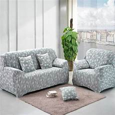 sofa cover blue flower printed slipcovers on the sofa