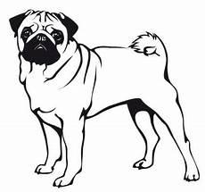 wandtattoo mops 7 mops kunst hunde silhouette und mops