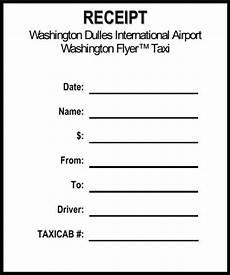 Sample Cab Receipt Taxi Receipt Template
