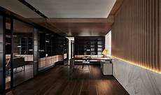 Dark Office Sophisticated Modern Design Apartment With Dark Color