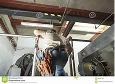 Elevator Repair Jobs Elevator Repair Man At Work Stock Photo Image Of