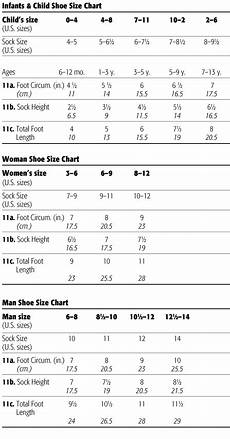 Wide Foot Measurement Chart Foot Size Chart Welcome To The Craft Yarn Council
