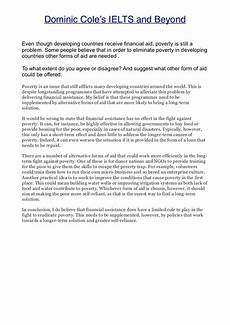 Poverty Essays Poverty And Aid Essay From Dcielts Com