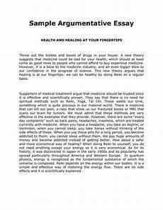 Example Essay Argumentative Sample Argumentative Essay Doc