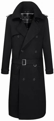black coats for mens black traditional breasted cotton trench