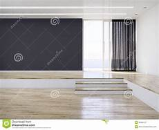Dark Walls Light Floor Empty Modern Interior Room Stock Image Image Of Clean