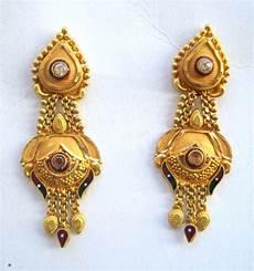 Earrings Design Images Traditional Design 20k Gold Earrings Ear Plug Handmade