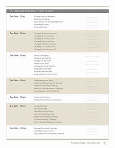 Property Management Takeover Checklist Property Management Takeover Checklist Template Sample