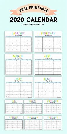 2020 Calendar Free Download Free Printable 2020 Calendar So Beautiful Amp Colorful