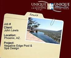 Lewis Negative Edge Pool Project Phoenix Landscaping