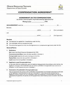 Compensation Package Template 8 Compensation Agreement Templates Pdf Word Free