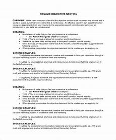 What Are Some Good Objectives To Put On A Resumes Free 40 Sample Objectives In Pdf Ms Word