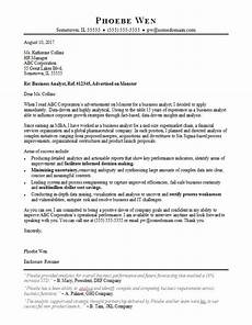 Management Analyst Cover Letter Business Analyst Cover Letter Sample Monster Com