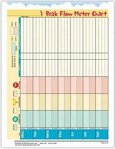 Flow Meter Chart Ped Asthma Peak Flow Use Tearpad 50 Sheets Per Pad