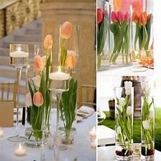 buket matrimonio 1 pcs 64 cm bunga tulip buatan batang panjang tunggal