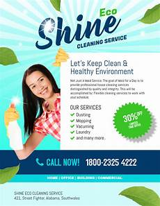 Cleaning Ads Examples Copy Of Shine Eco Cleaning Service Postermywall