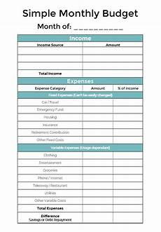 Personal Finance And Budgeting Budget Planner Finance Printable Budget Planner Simple