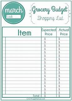 Make A Grocery List With Prices Free Monthly Weekly Printable Grocery List Use This To