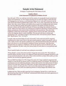 Artist Statement Sample 31 Best Artist Statement Examples Amp Templates ᐅ Templatelab