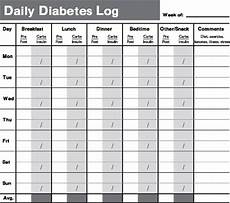 Daily Glucose Log When To Test Blood Sugar Levels Diabetes